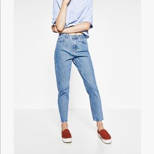 Zara high-rise skinny leg mom fit jeans NWT
